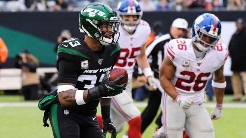 Jamal Adams durante un partido con los Jets de Nueva York