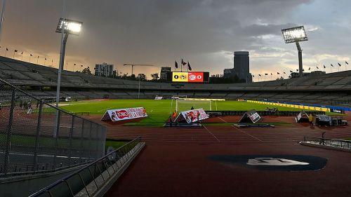 Estadio Olímpico Universitario, previo a un juego de la Copa por México