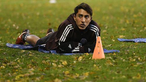 Omar Govea en un entrenamiento con el Tri