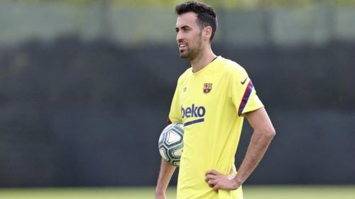 Sergio Busquets en entrenamiento
