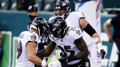 NFL: Baltimore superó a Philadelphia con final dramático