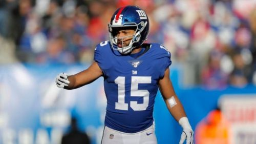 Golden Tate en partido con los Giants