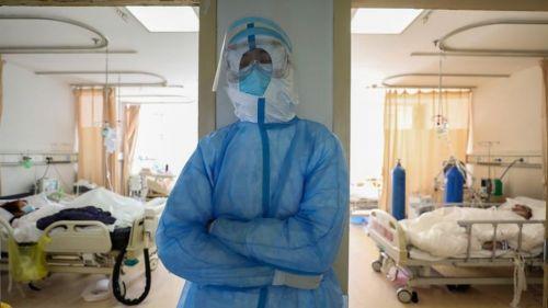 Enfermera en un hospital de Wuhan