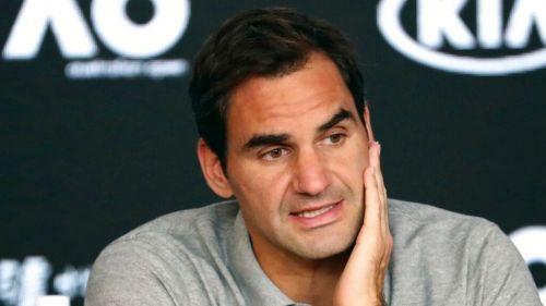 Roger Federer en una conferencia