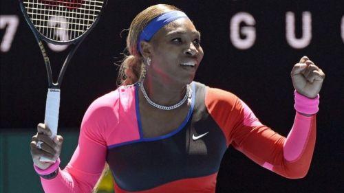 Serena Williams en un juego de tenis