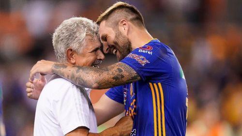 Ferretti y Gignac tras un partido de Tigres