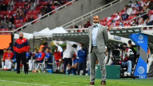 Marcelo Méndez Russo en su debut con el San Luis