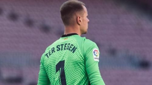 Marc-AndréTer Stegen durante partido con el Barcelona