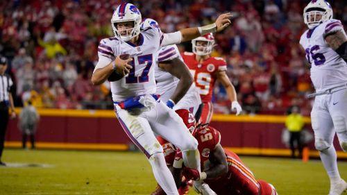 Josh Allen en acción con Bills
