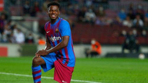 Ansu Fati en un partido del Barcelona