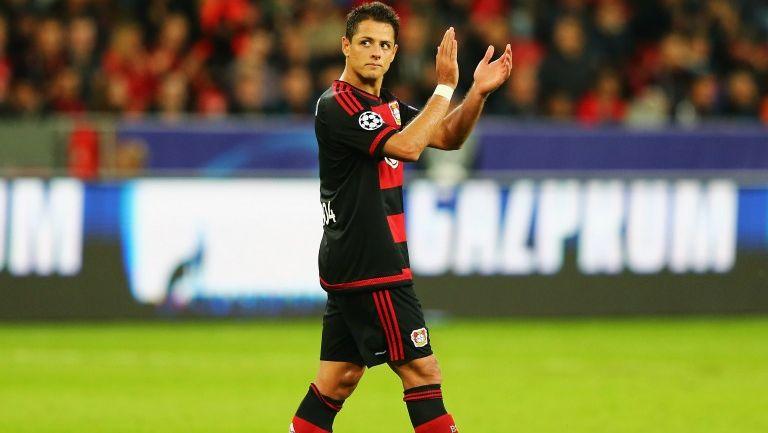 Chicharito, en partido del Leverkusen