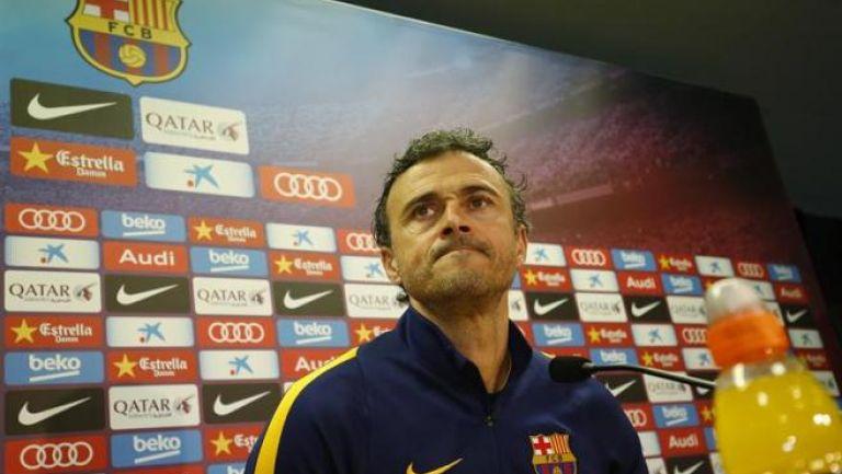 Luis Enrique, en conferencia de prensa