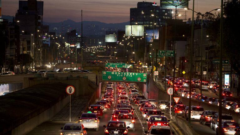 Así luce el tráfico en la Ciudad de México