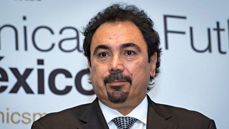 Hugo Sanchez, durante la conferencia de la Fundación Real Madrid