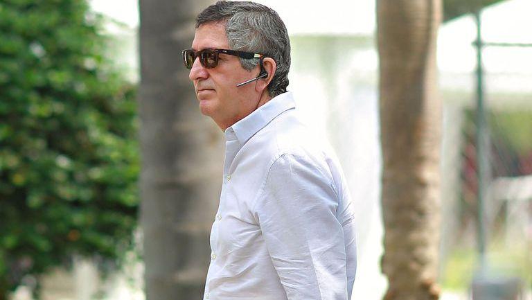Jorge Vergara en una visita a Verde Valle