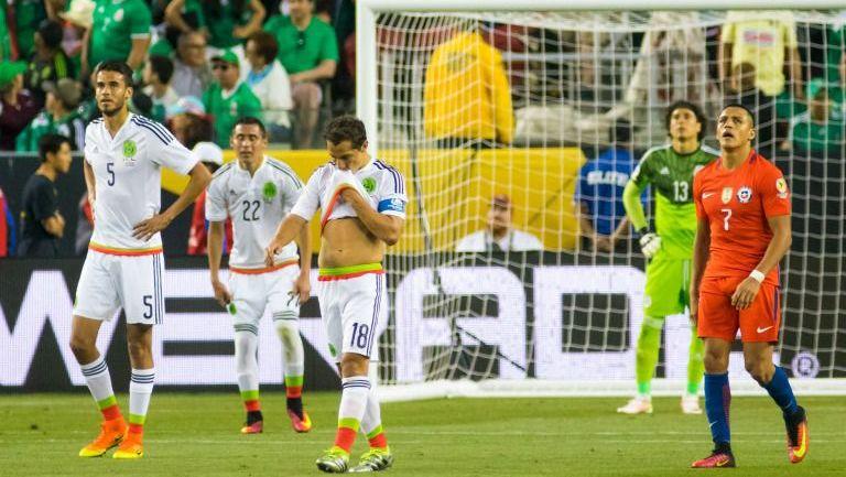El Tri se lamenta después de su elimnación de Copa América Centenario