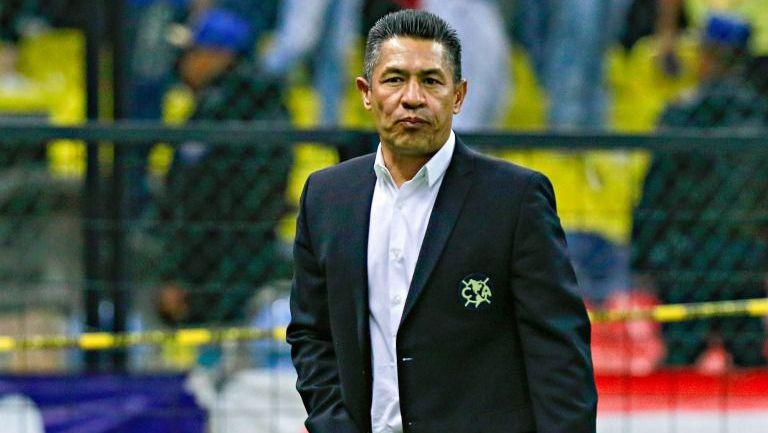 Ignacio Ambriz, durante el partido entre América y León en la J9