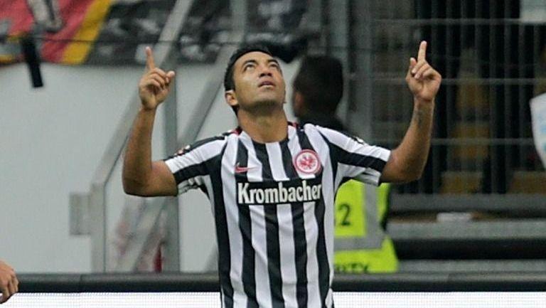 Marquito celebra un tanto con el Eintracht Frankfurt en Bundesliga