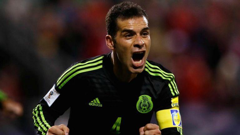 Rafa Márquez celebra su gol frente a Estados Unidos