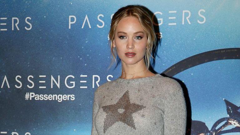Jennifer Lawrence en la presentación de 'Passengers' en París