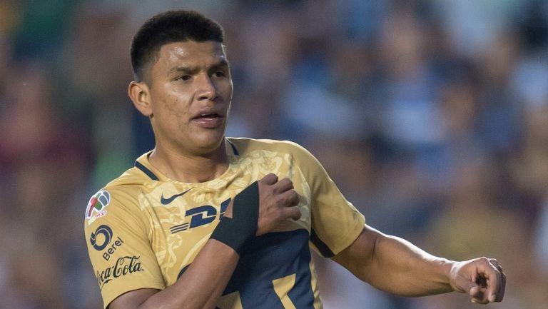 Jesús Gallardo, en un partido de Pumas