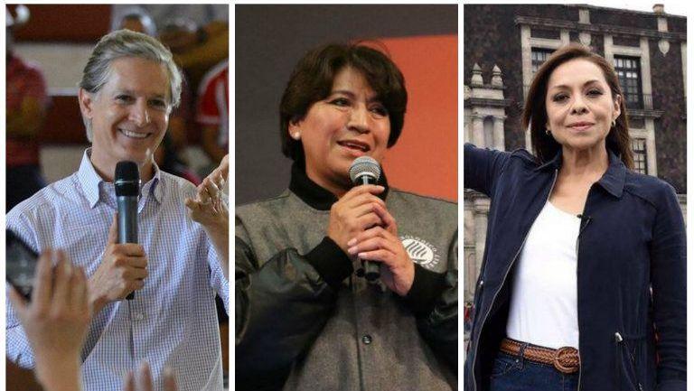 Alfredo del Mazo, Delfina Gómez y Josefina Vázquez, candidatos al gobierno del Edomex