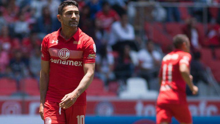 Antonio Naelson en su último partido con Toluca