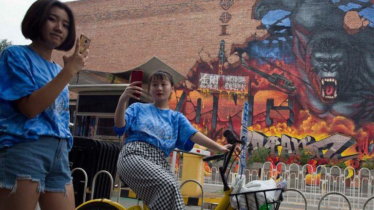 Mujeres chinas se toman una selfie