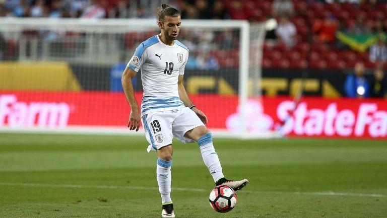 Silva, en un encuentro con la Selección de Uruguay