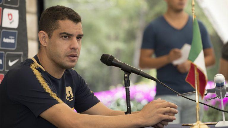 Gerardo Alcoba, en conferencia de prensa