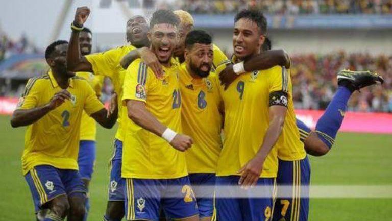Aubameyang y la selección de Gabón