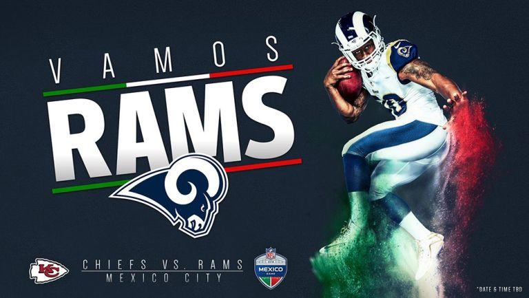 Anuncio de los Rams sobre el juego en el Azteca