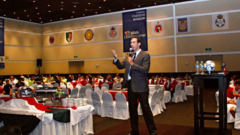 Paco Gabriel de Anda, durante una conferencia