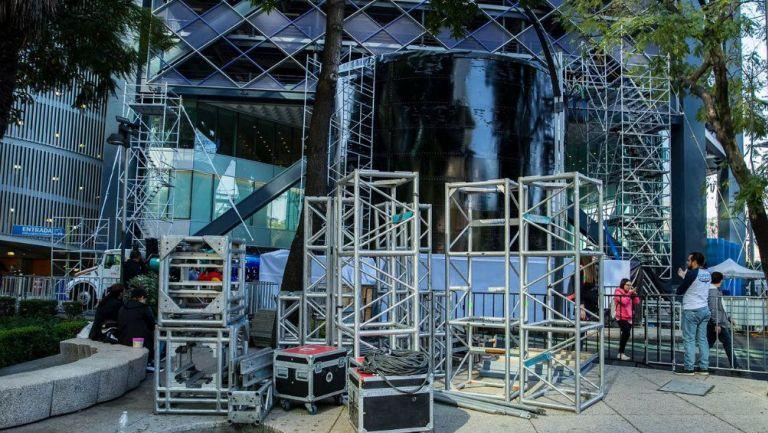 Fosa utilizada para el evento Clavados de Altura en Reforma