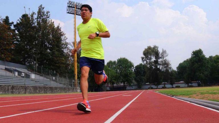 Marco Zaragoza durante un entrenamiento