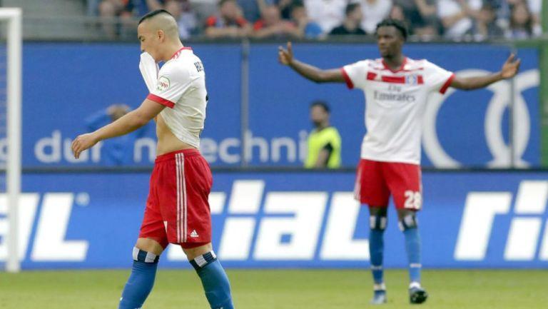 Bobby Wood se lamenta tras resultado del Hamburgo