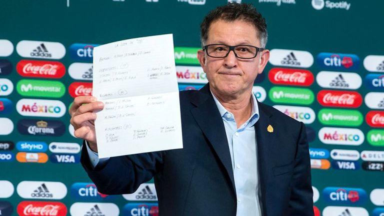 Osorio muestra su prelista para el Mundial de Rusia 2018