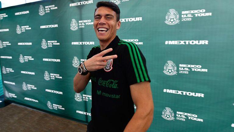 Héctor Moreno, en el Media Day