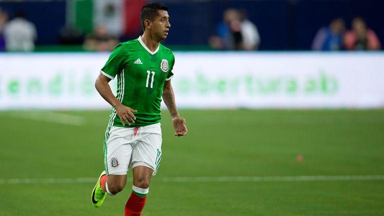 Elías Hernández, en juego del Tri en Copa Oro