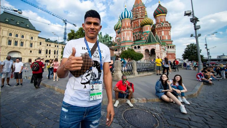 Jesús Gallardo, durante su día libre en Moscú