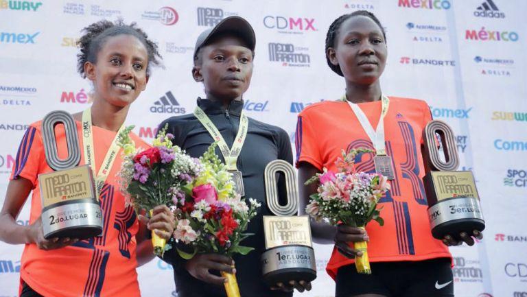 Ganadoras del Medio Maratón de la CDMX 2018