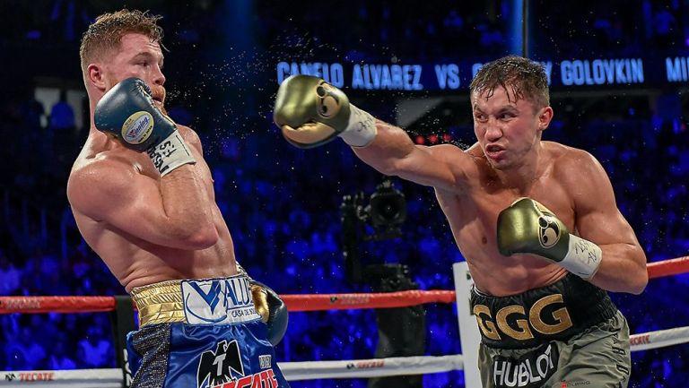 Acciones de la primera pelea entre Canelo y GGG