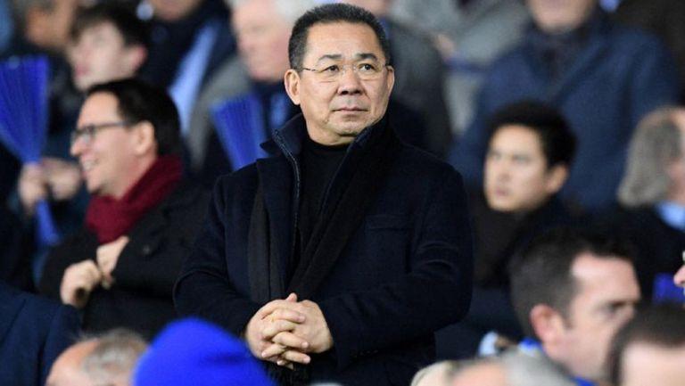 El dueño del Leicester City, durante un partido