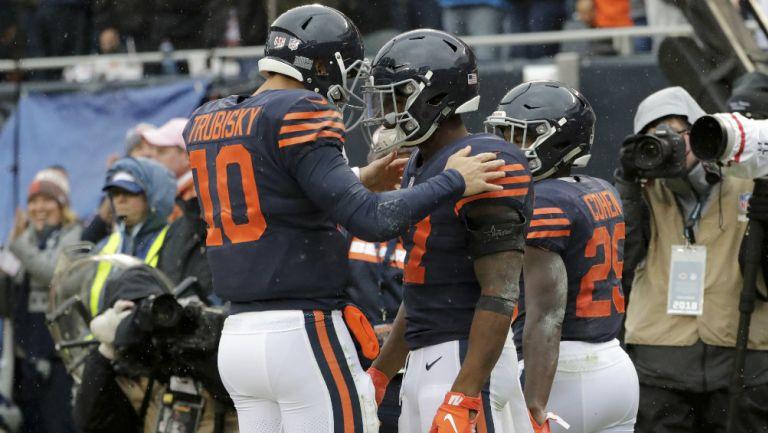Bears celebra un touchdown frente a Jets
