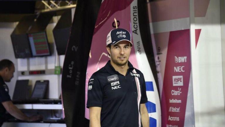 Sergio Pérez después de una carrera