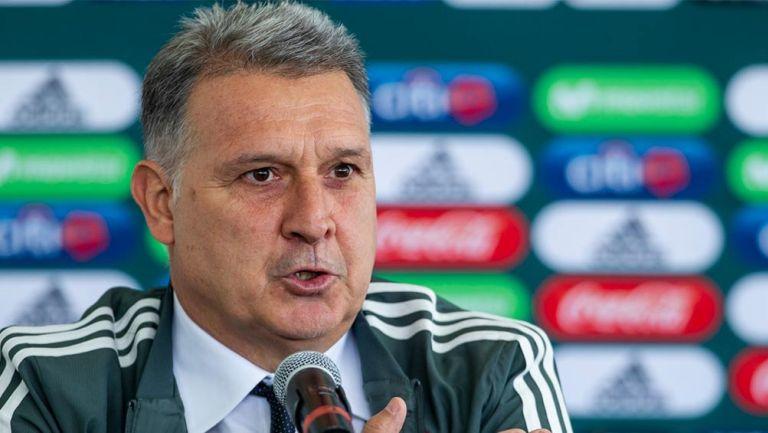Tata Martino en su presentación como DT de la Selección Mexicana