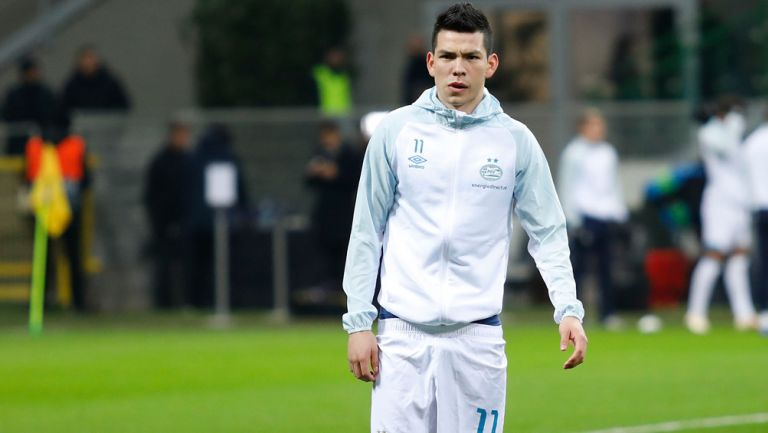 Lozano, previo a un duelo de Champions con el PSV