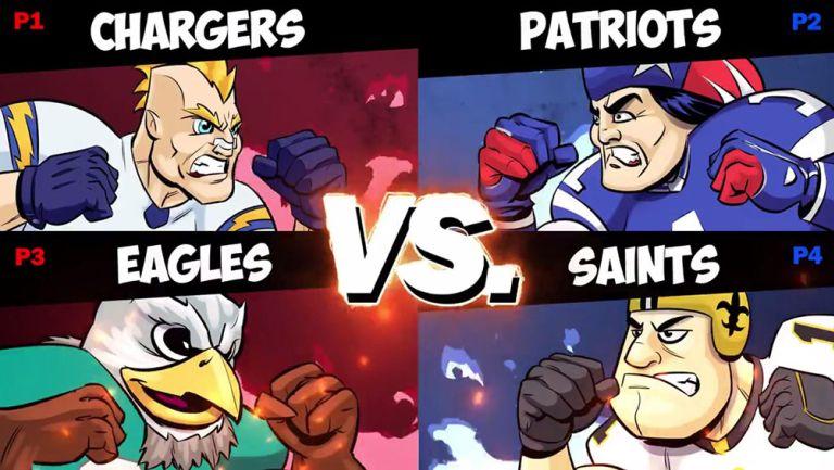 Los equipos de la NFL tuvieron su versión de Smash Bros.