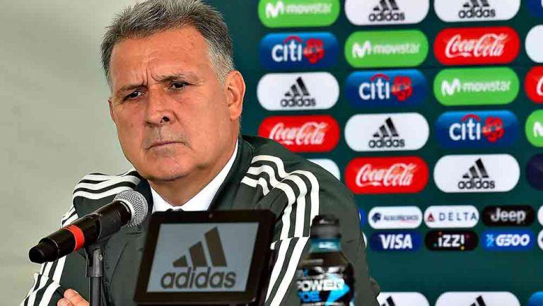 Martino durante su presentación como DT de la Selección Mexicana