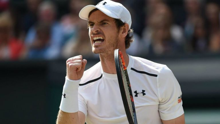 Andy Murray en acción durante un torneo